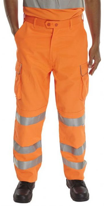 B Seen Hi Vis Rail Spec Combat Trousers RST
